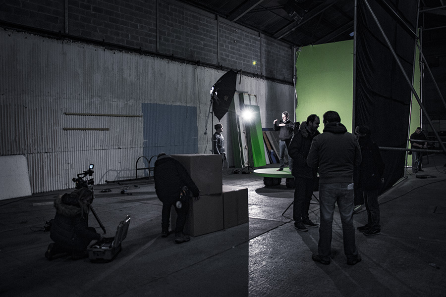 Jason Butler directing on Bridget and Eamon shoot