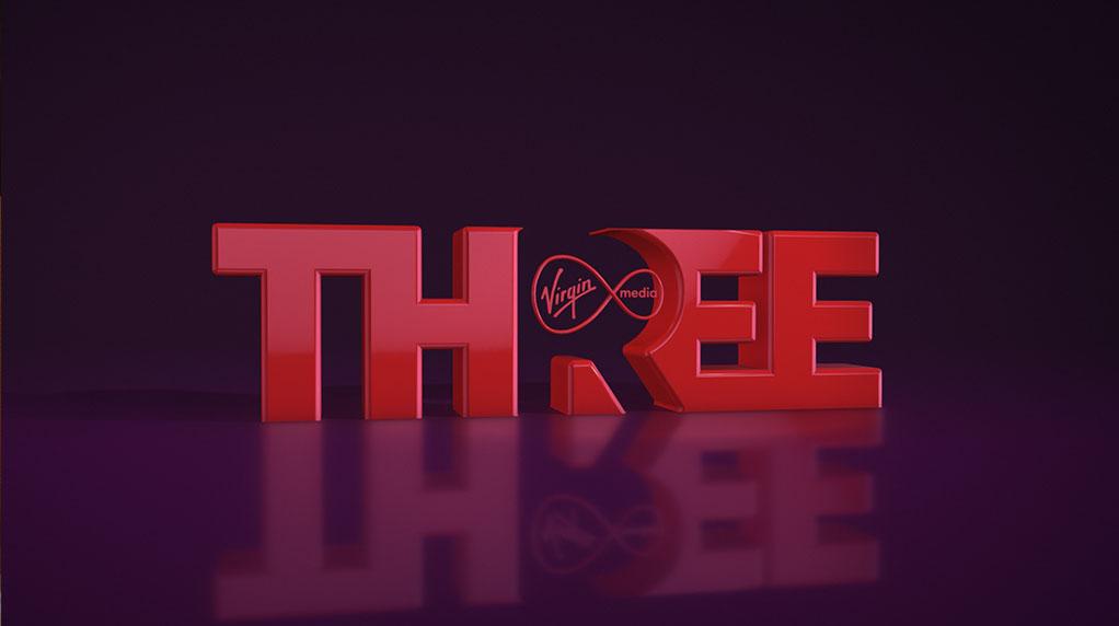 Virgin Media THREE ident