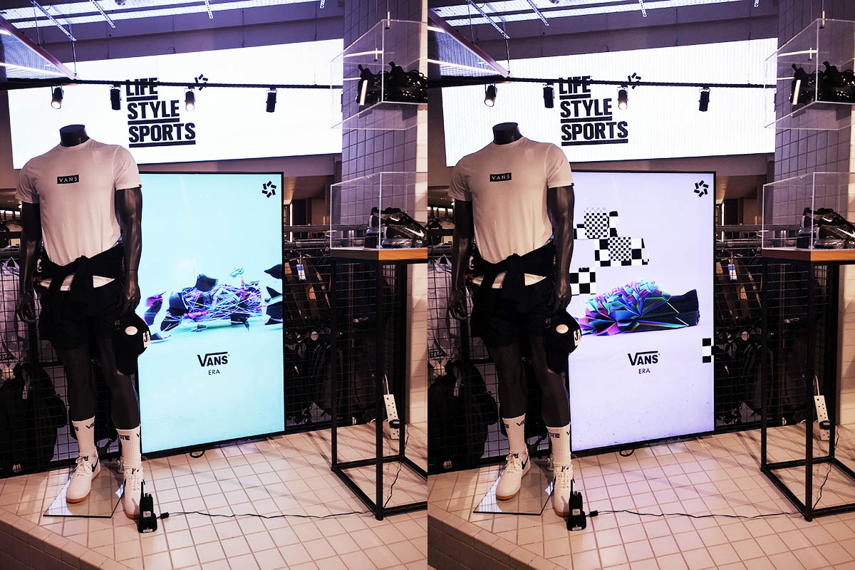 Lifestyle Sports Blacklist Campaign in-store display